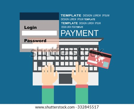 Flat design illustration concepts for Payment Method. Concepts web banner - stock vector