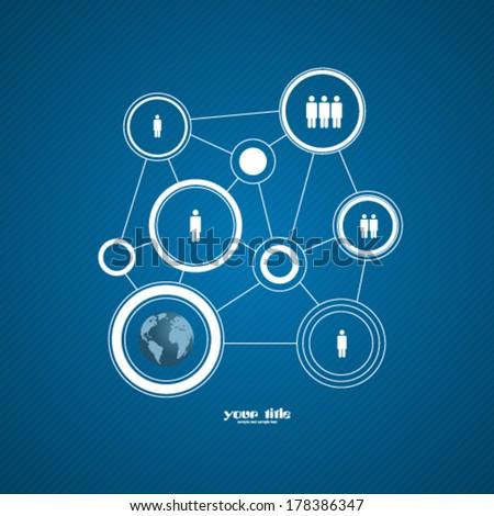 flat design infographic circles - stock vector