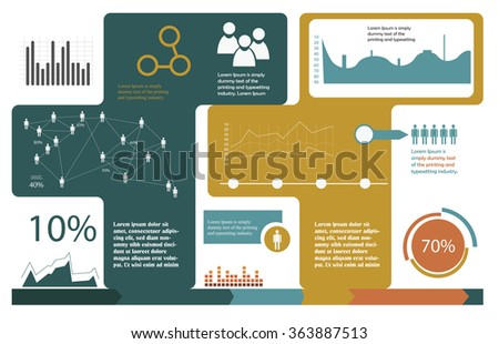 flat design infographics template - stock vector