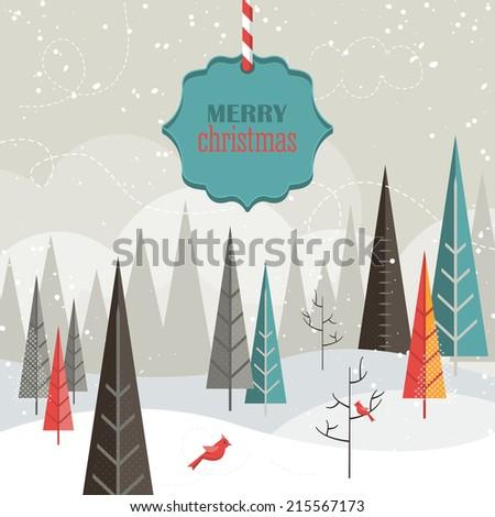 Flat design modern vector illustration for Christmas holiday - stock vector
