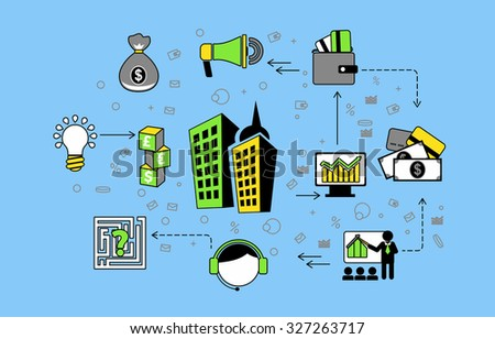 Flat design of internet banking transaction, e-commerce secure money transfer, online financial business solutions. Vector illustration concept isolated on blue background. - stock vector