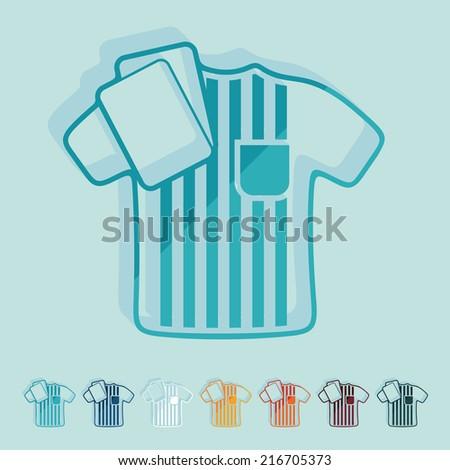 Flat design: referee - stock vector