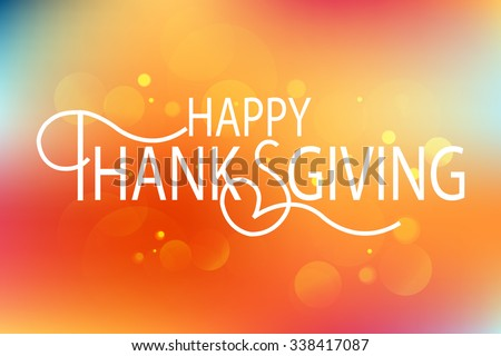 Flat design style Happy Thanksgiving Day logotype, badge and icon. Happy Thanksgiving Day logo template. Thanksgiving Day card template. Happy Thanksgiving banner, flyer - stock vector