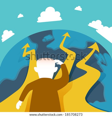 flat design vector illustration concept of selection - stock vector
