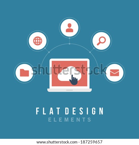 Flat design vector illustration infographic design elements concept. Business and social media design. Design template.  - stock vector