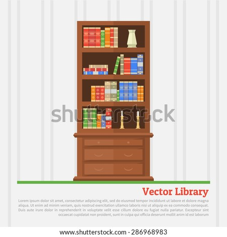 Stock Images Similar To Id 159179633 Bookcase Interior