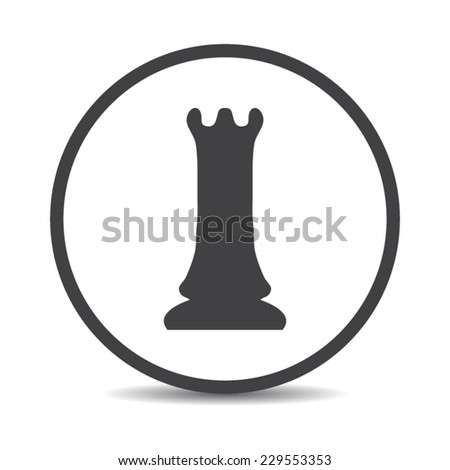 Flat designed hand drawn chess icon. Business concept. Idea. Logic. Strategy - stock vector
