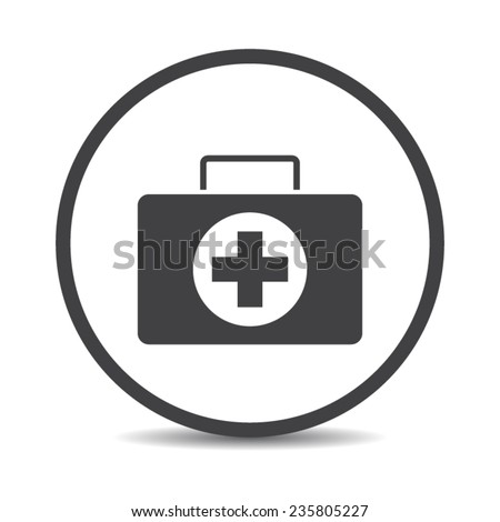 Flat designed medicine chest icon - stock vector