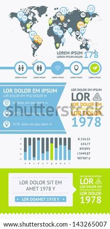 Flat Elements of Infographics - stock vector