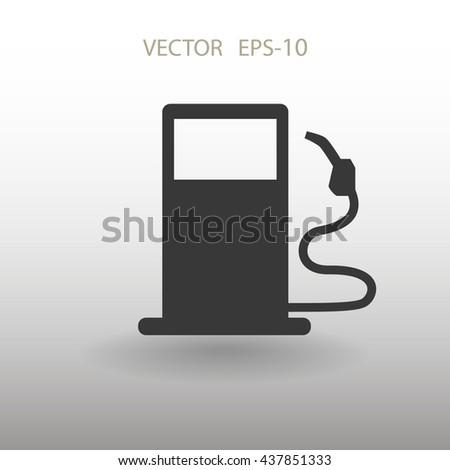 Flat fuel icon. Vector - stock vector