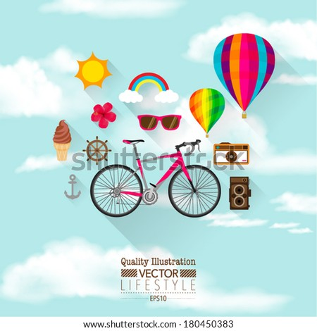 Rainbow clouds stock photos illustrations and vector art