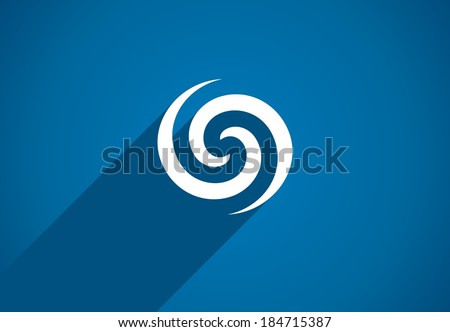 Flat icon design element. Abstract idea for business company.  Eco, green, water, spiral, cosmetics and medical concepts.  Pictogram for corporate identity template. Stock Illustration (Vector) - stock vector