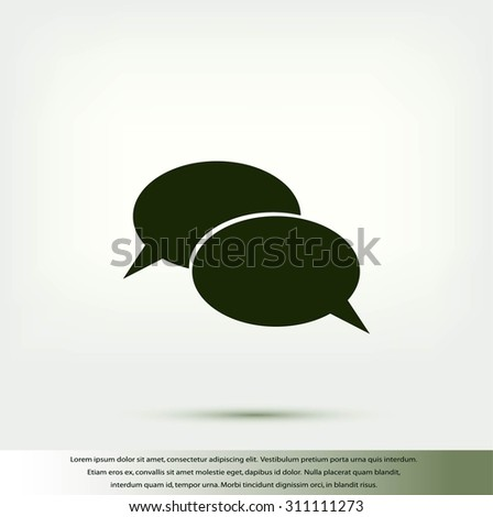 Flat icon of a communication - stock vector