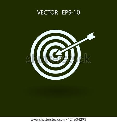Flat icon of aim - stock vector