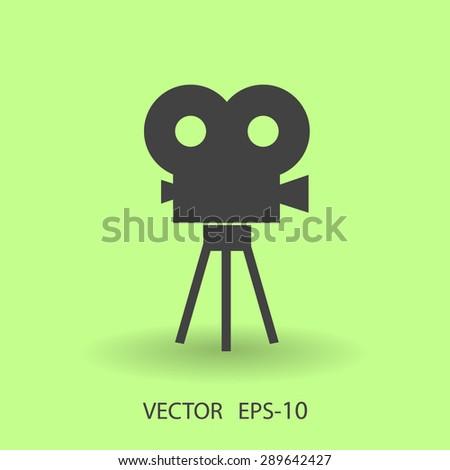 Flat icon of cinema - stock vector