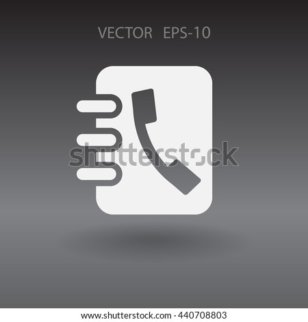 Flat icon of  contacts book - stock vector