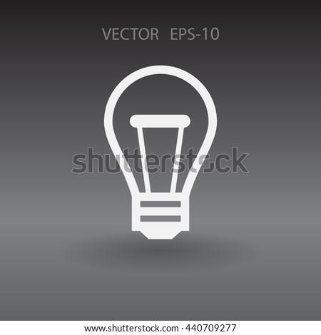 Flat icon of idea - stock vector