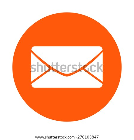 Flat  icon of letter.Mail icon.  - stock vector