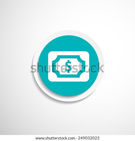 Flat icon of money market business sign symbol wealth dollar - stock vector