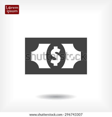 Flat icon of money vector icon - stock vector