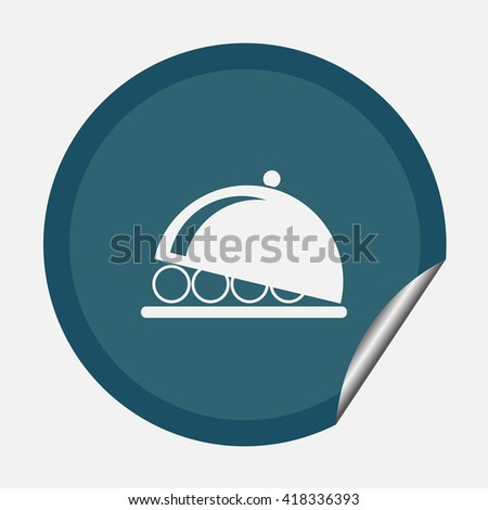 Flat icon of plattere - stock vector