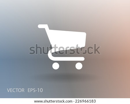 Flat icon of shopping chart - stock vector