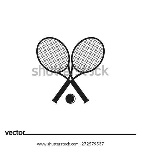 Flat Icon of tennis great. Isolated on white background. Modern vector illustration for web and mobile. - stock vector