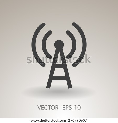Flat icon of wifi - stock vector