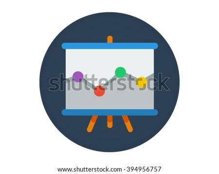 Flat Icon - Whiteboard Illustration - stock vector