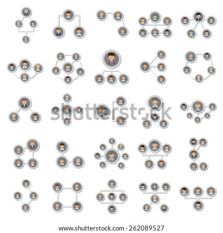 Flat Icons Connection Set: Vector Illustration, Graphic Design.For Web, Websites, Print, Presentation Templates, Promotional, Mobile Applications And Promotional Materials.Isolated On White Background - stock vector