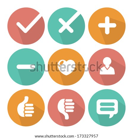 flat icons vector collection - stock vector
