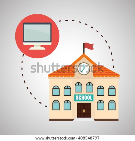 Flat illustration about back to school design - stock vector