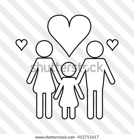 Flat illustration of family design, people icon - stock vector