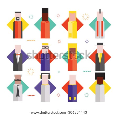 Flat illustrative vector characters  - stock vector