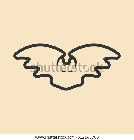 Flat in black and yellow mobile application bat  - stock vector