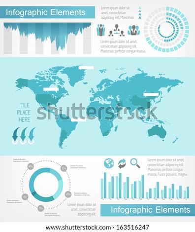 Flat Infographic Elements. Vector EPS 10. - stock vector