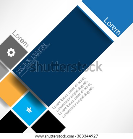 flat layout material background design - stock vector
