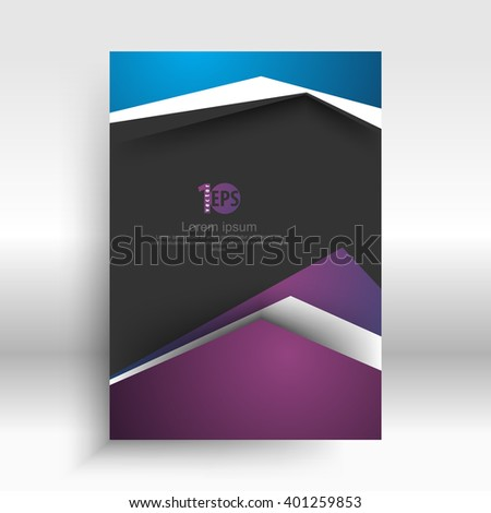 flat layout material corporate background concept design. eps10 vector - stock vector