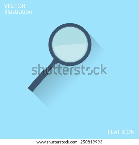 Flat Magnify icon - stock vector