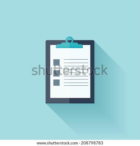 Flat medical report - stock vector