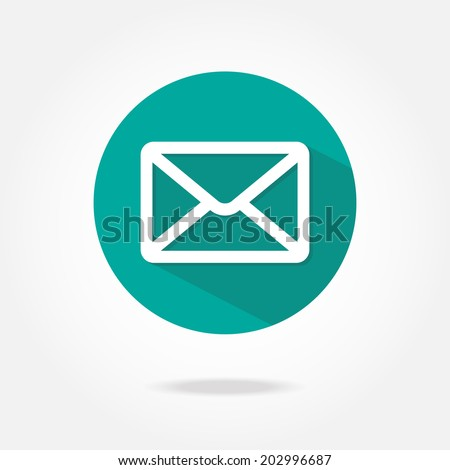 Flat message icon. - stock vector
