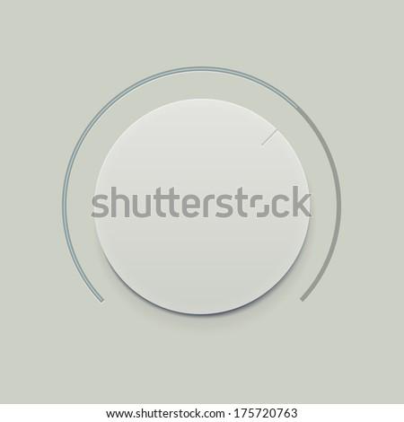 Flat Minimalistic Dial knob   - stock vector