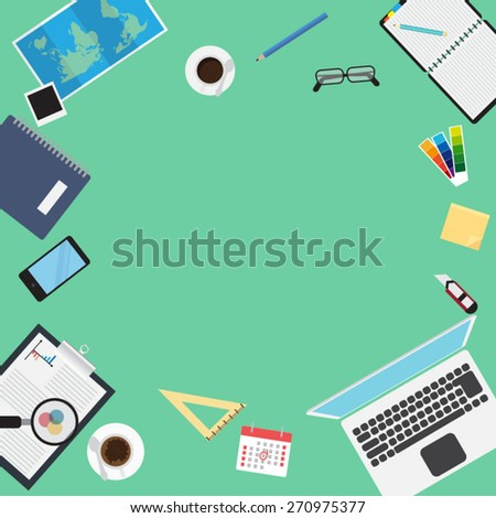Flat modern design concept management - stock vector