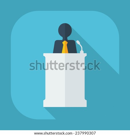 Flat modern design with shadow business icon - stock vector