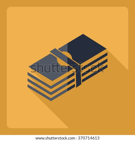 Flat modern design with shadow  Icon Casino Jackpot - stock vector