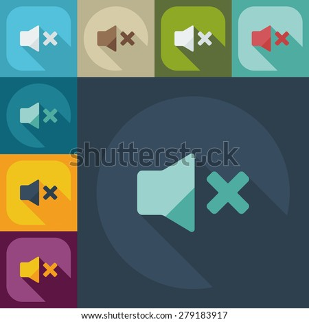 Flat modern design with shadow icon player - stock vector