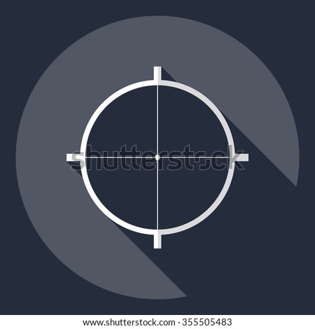 Flat modern design with shadow  Icon sight - stock vector