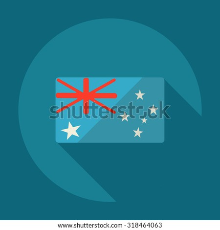 Flat modern design with shadow icons australia flag - stock vector