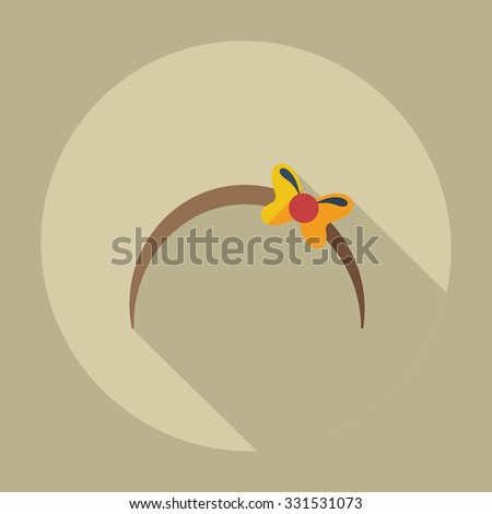 Flat modern design with shadow icons bijouterie - stock vector