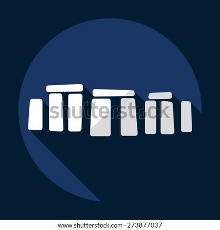 Flat modern design with shadow Stonehenge monument - stock vector